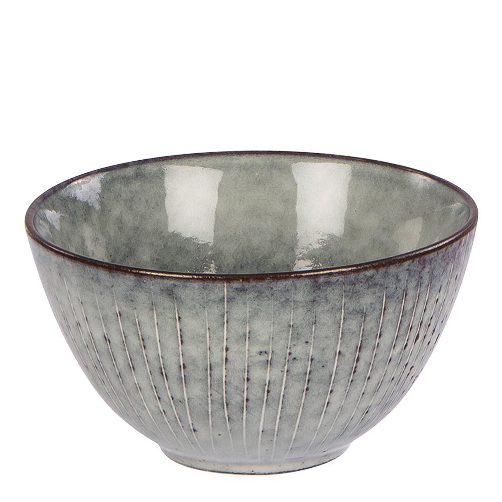 broste Copenhagen 14533219 Nordic Coal Deep Plate Stoneware