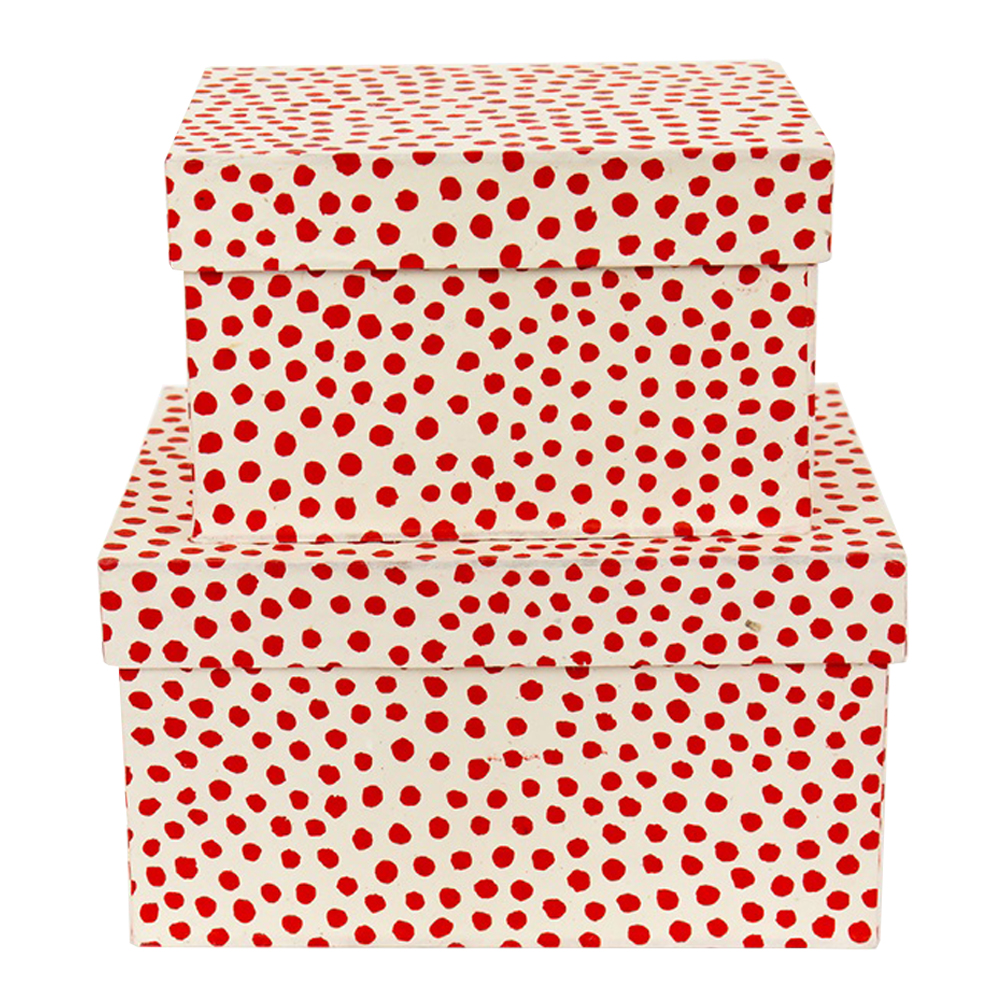 Afroart - Prick Förvaringslådor 2-pack  Röd