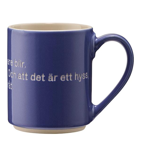 Design House Stockholm Astrid Lindgren Kopp Blå, Hyss hittar man inte på