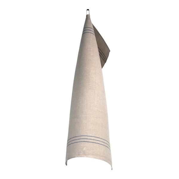 Växbo Lin Handduk Oblekt 50x70 cm Blå/Oblekt