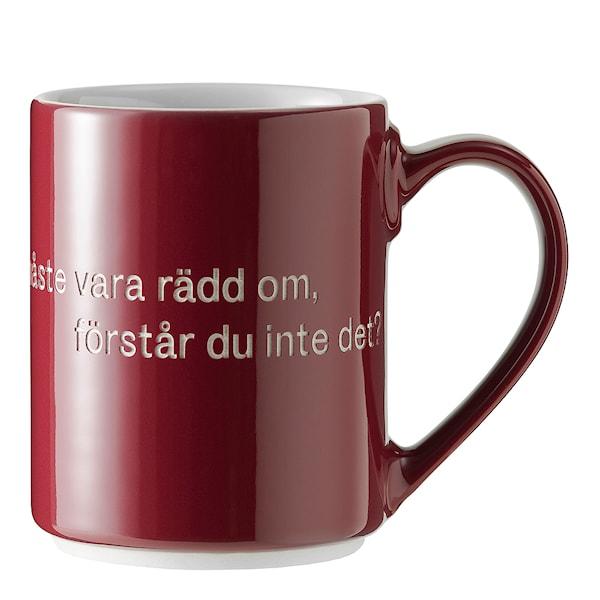 Design House Stockholm Astrid Lindgren Kopp Vinrød, Livet är en sak