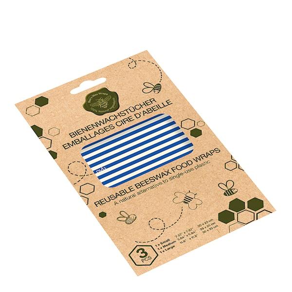 Nuts Innovations Bivaxduk Ränder 3-pack Flerfärgad