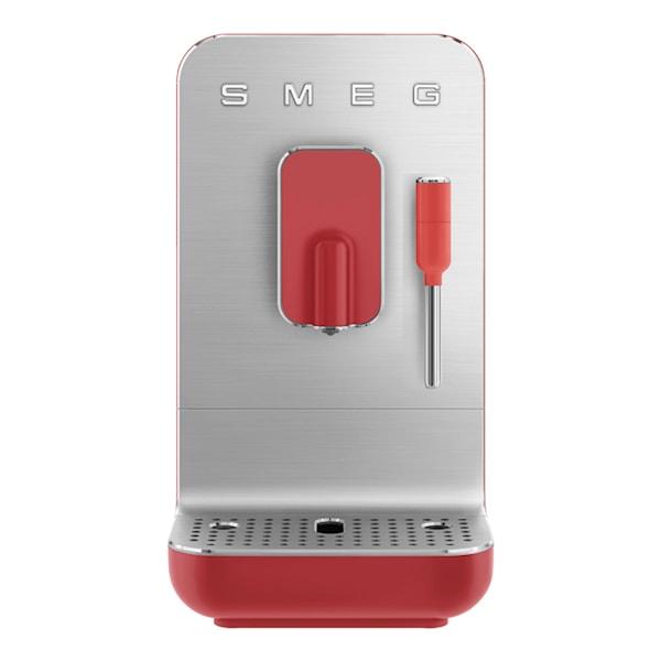 Smeg 50's Style Kaffemaskin helautomatisk med Melkeskummer Rød