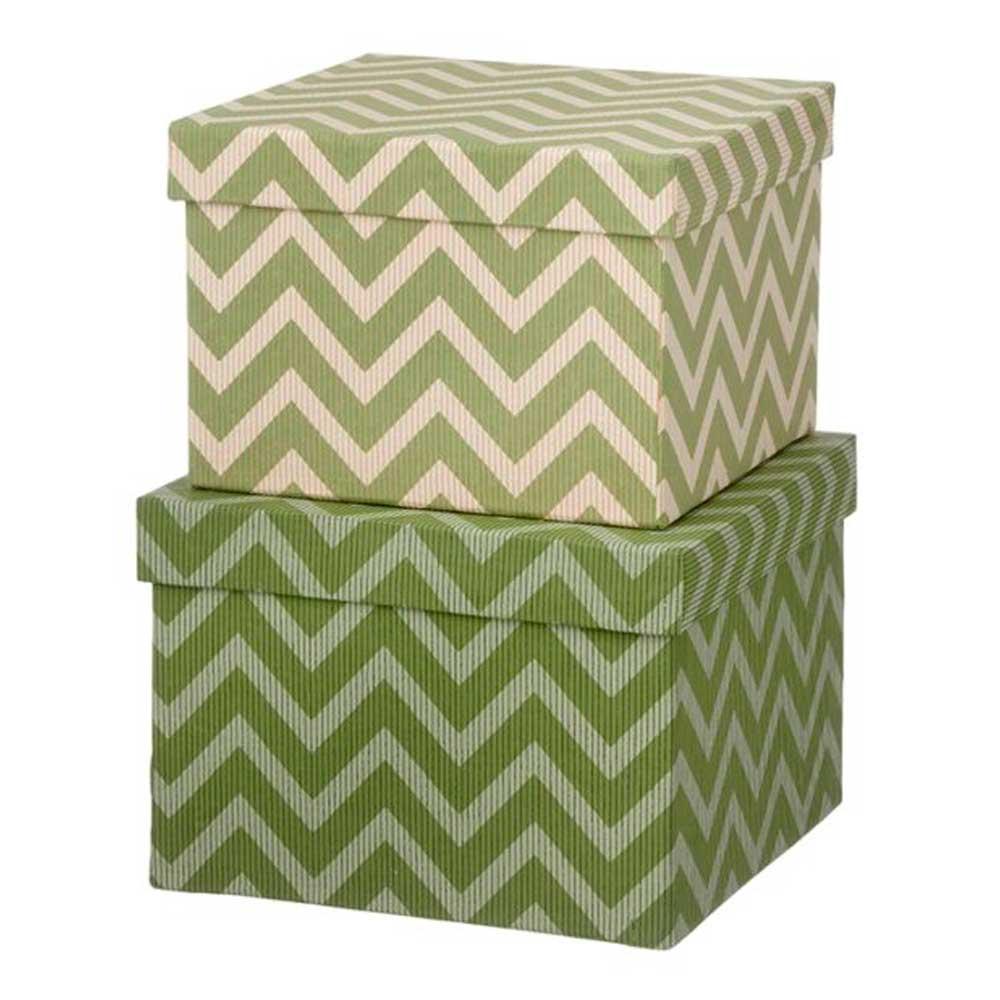 Bungalow - Duo Boxes Förvaringsask 2 delar Wiggy/Leaf Green
