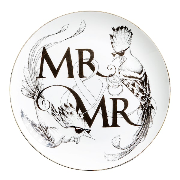 Perfect Plate Mr & Mr 21 cm