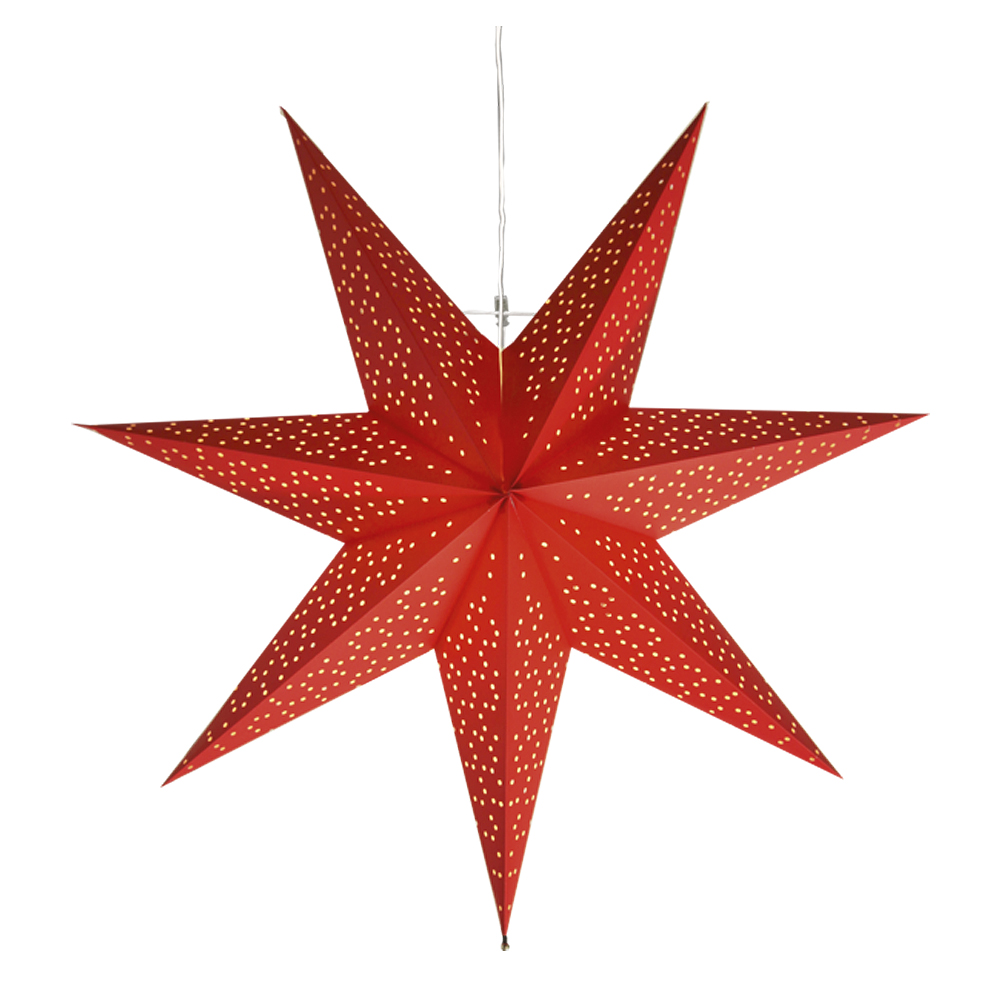 Star Trading - Dot Stjärna 54 cm Röd