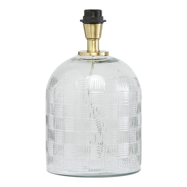Betty Lampfot Glas 35 cm Klar