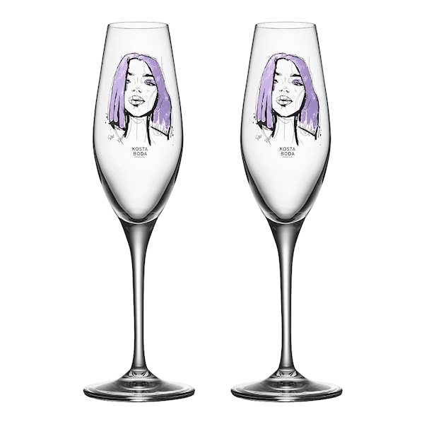 Kosta Boda All About You Champagneglass 2-pakning Forever Mine