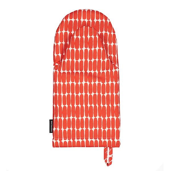 Marimekko Alku Grillvott Røde Ovaler 15X31,5cm