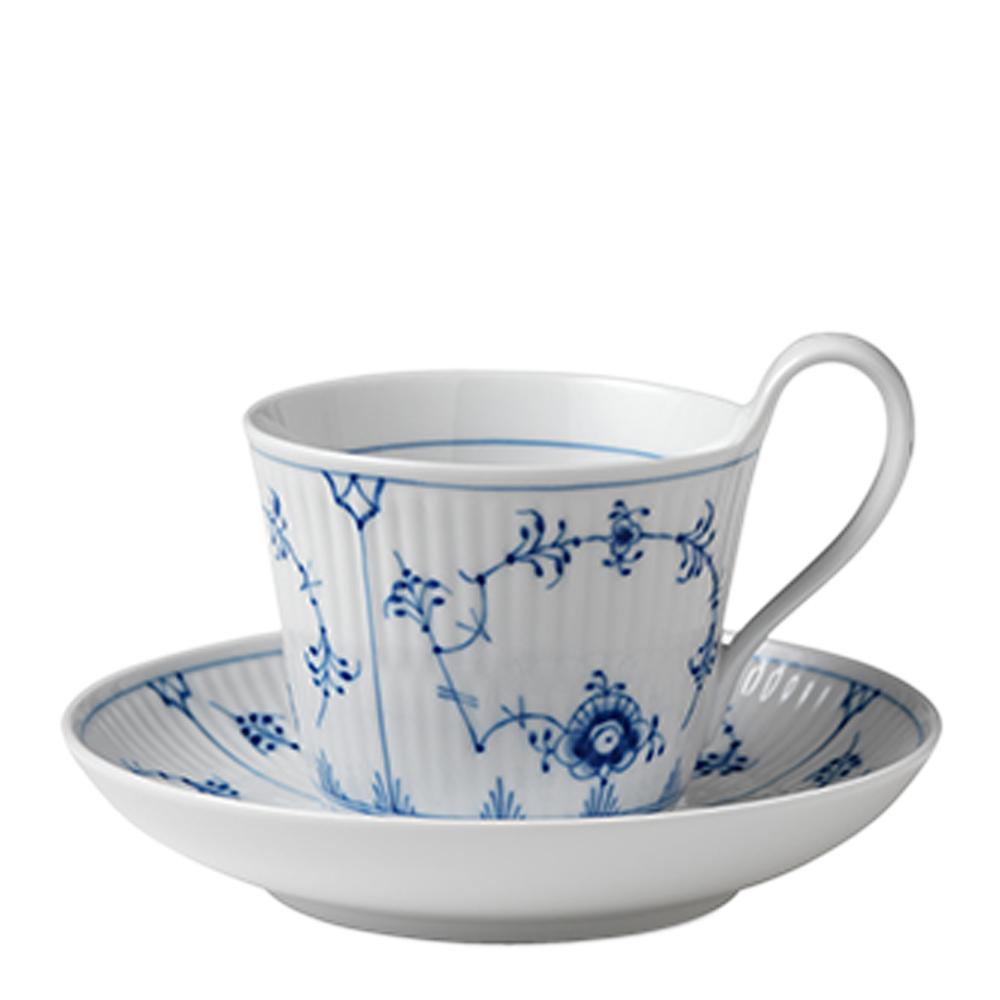 Royal Copenhagen - Blue Fluted Plain Kaffegods 25 cl högt handtag