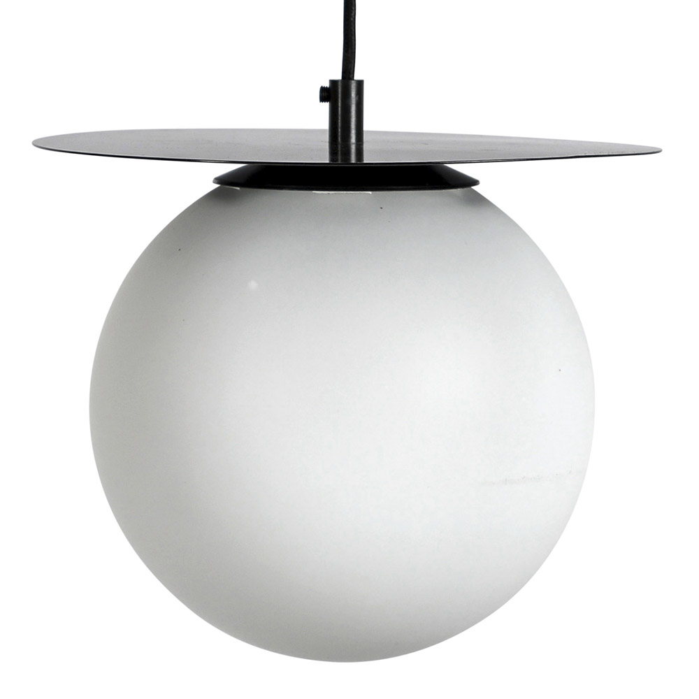 By On - Lush Globe Taklampa 27 cm Svart/vit