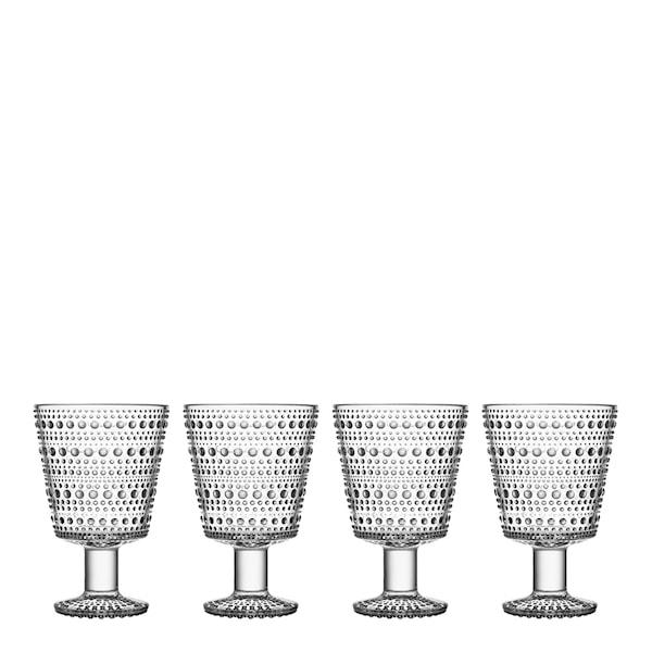 Kastehelmi Glas på fot 26 cl 4-pack