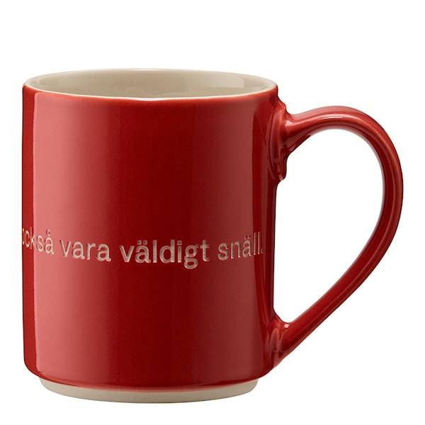Astrid Lindgren Mugg Röd Den som är stark