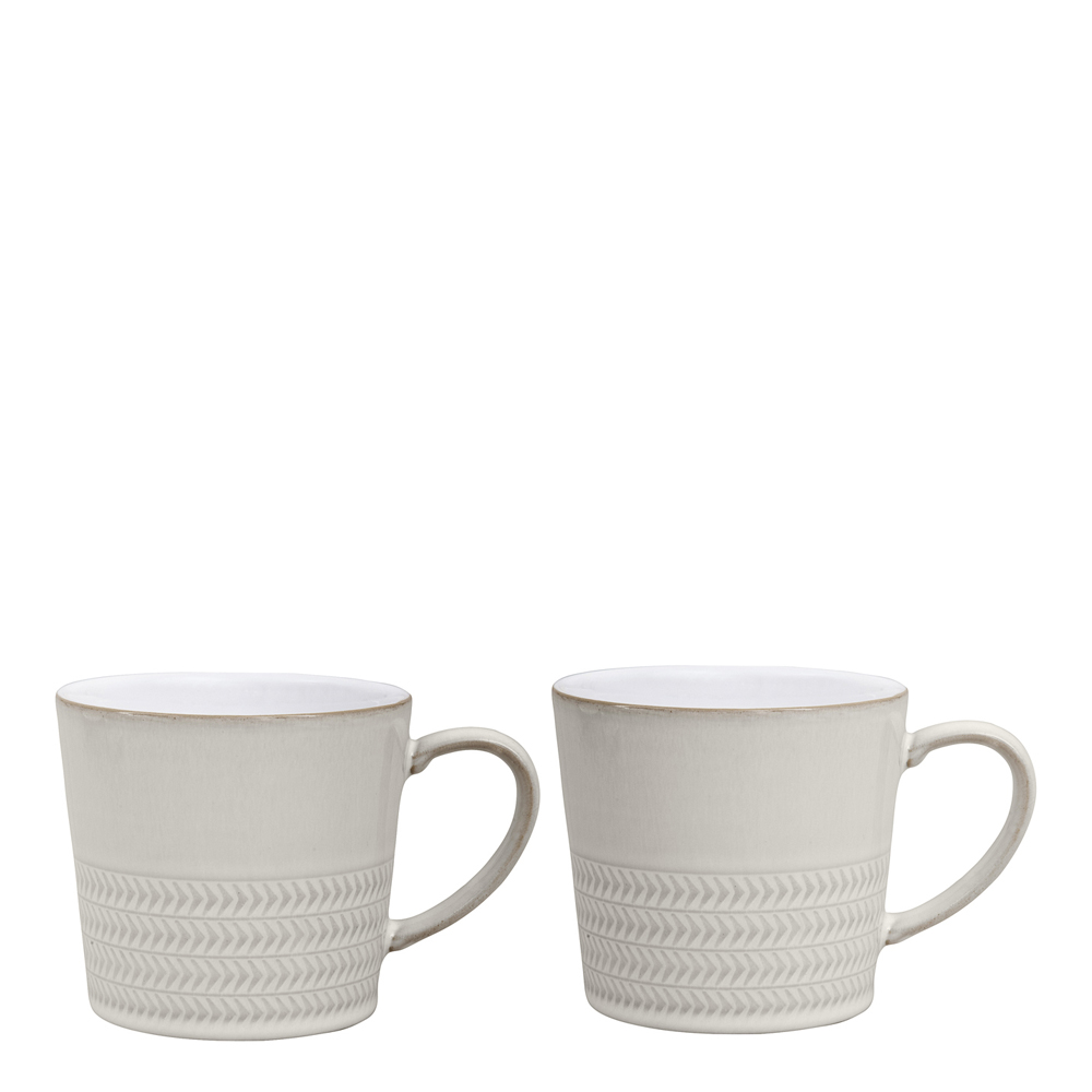 Denby - Natural Canvas Mugg 40 cl 2-pack  Vit