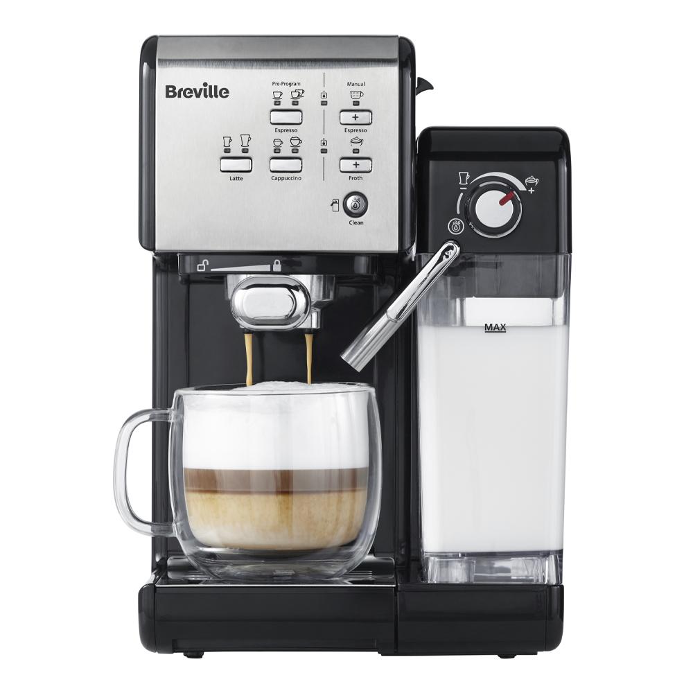 Breville - Prima Latte II Kaffemaskin Silver
