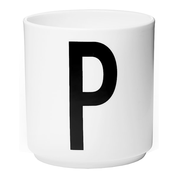 Design Letters Mugg P Vit