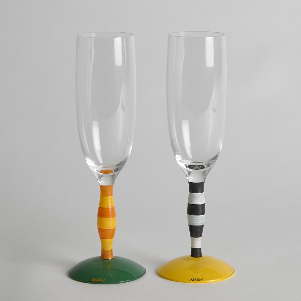 """Orrefors - SÅLD Champagneglas """"Polka"""""""