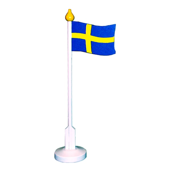 Dala Industrier Dalasommar Träflagga 32 cm