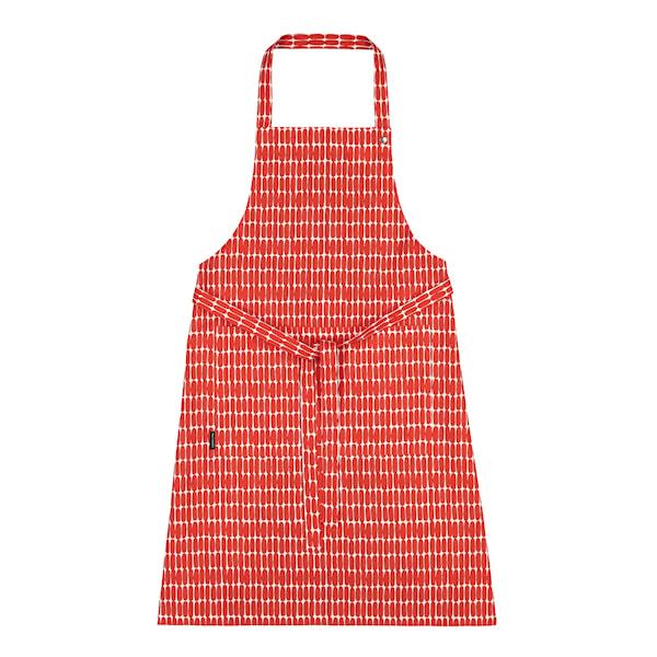 Marimekko Alku Forkle Røde Ovaler 84X85 cm