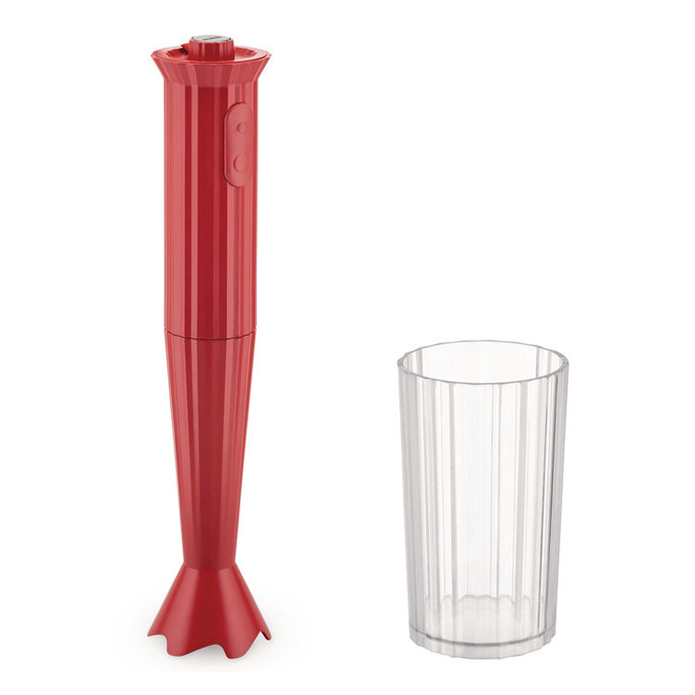 Alessi - Plissé Stavmixer Röd