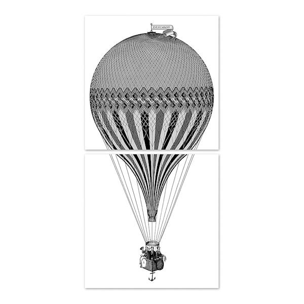 Kakeldekor Luftballong 15x15 cm 2-pack Transparent