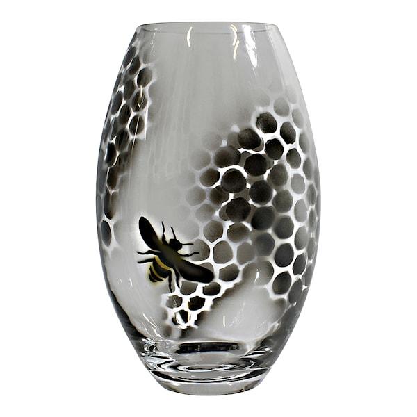 Nybro Crystal Honeycomb Vas 26 cm Svart