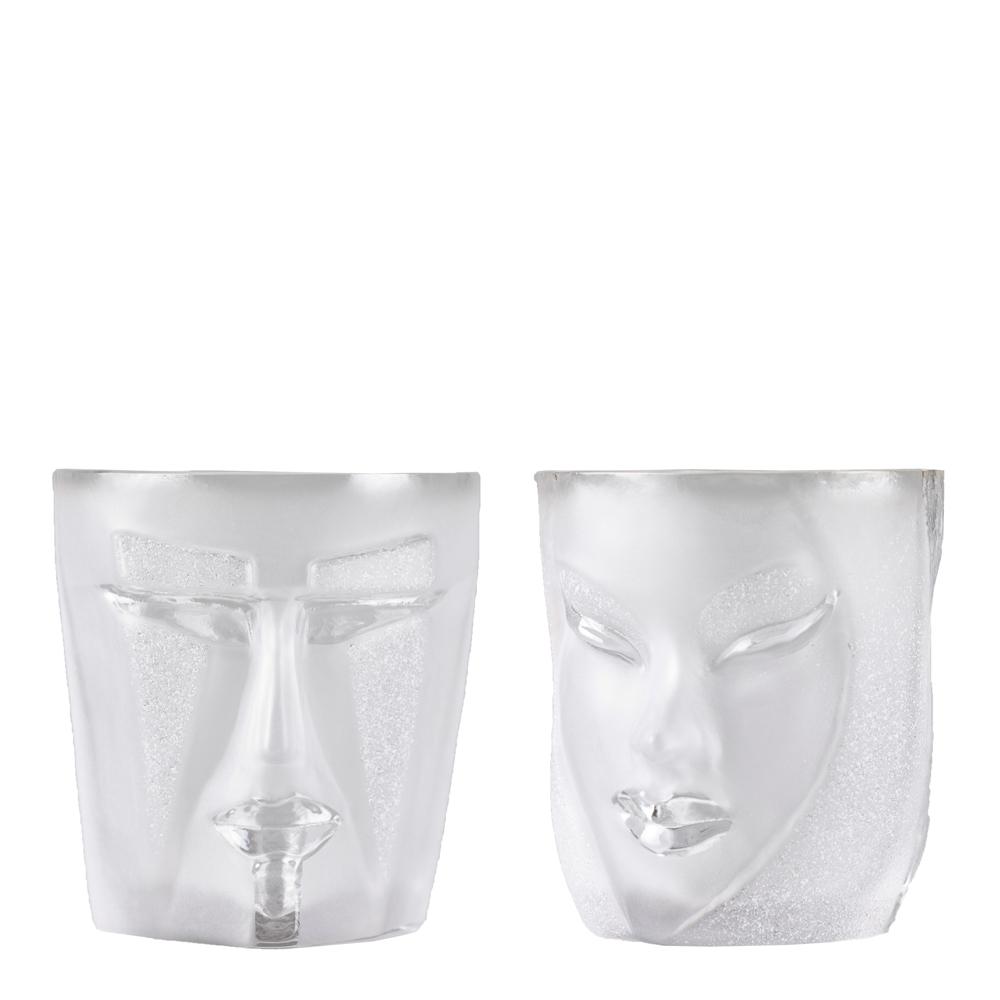Målerås Glasbruk - Kubik och Electra Tumblerglas Klar