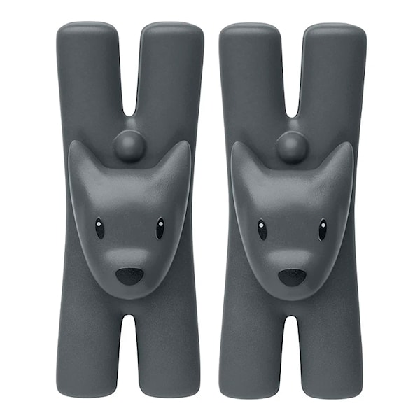 Alessi Giampo Clips 2-pack Svart