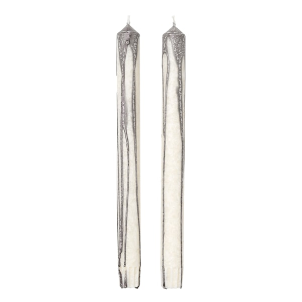 Ferm Living Duo Candle Ljus 26 cm 2-pack Warm Grey