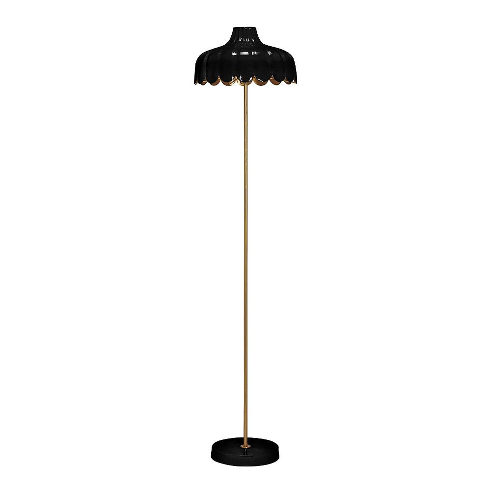 PR Home - Wells Golvlampa 150 cm Svart/Guld