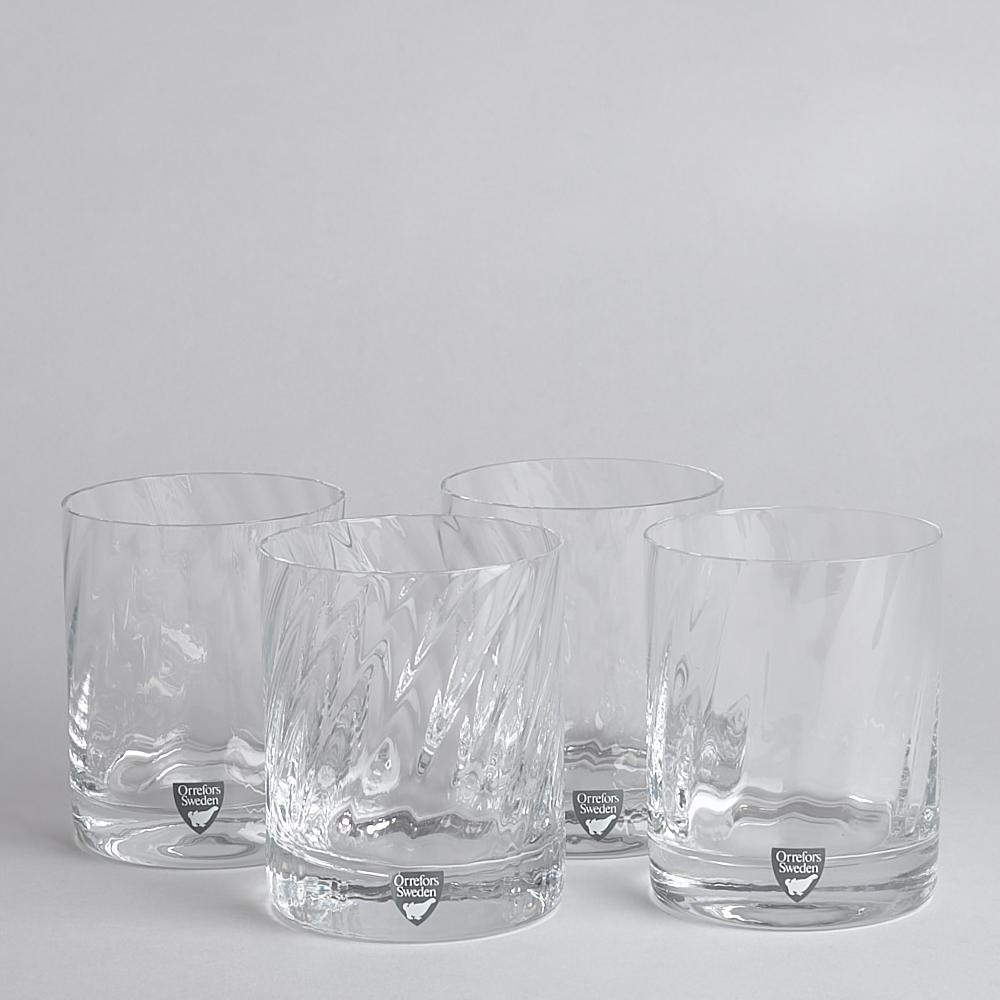 "Orrefors - SÅLD Tumblers ""Helena"" Glas 4 st"
