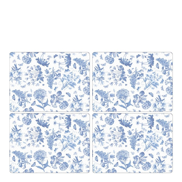 Botanic Blue Tablett 30x40 cm 4-pack