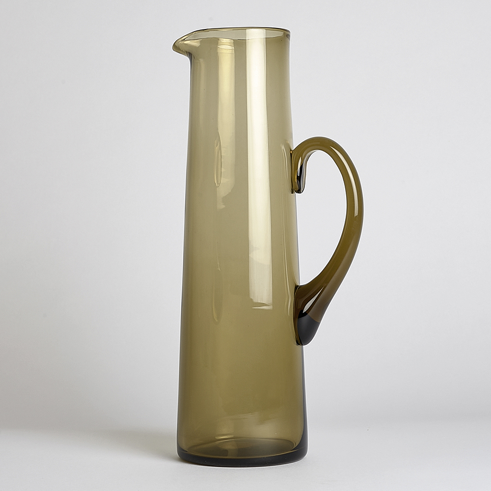 Reijmyre Glasbruk - SÅLD H55 Kanna Glas Brun/Rökfärgad