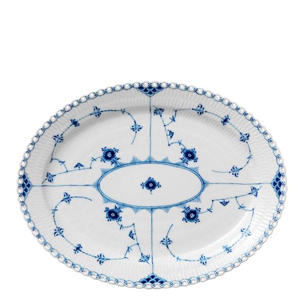 Royal Copenhagen Blue Fluted Full Lace Fat Oval 36 cm