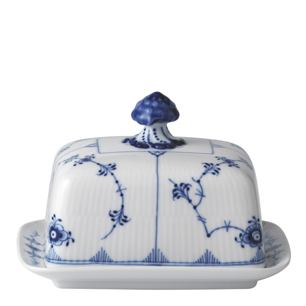 Royal Copenhagen - Blue Fluted Plain Smörbytta