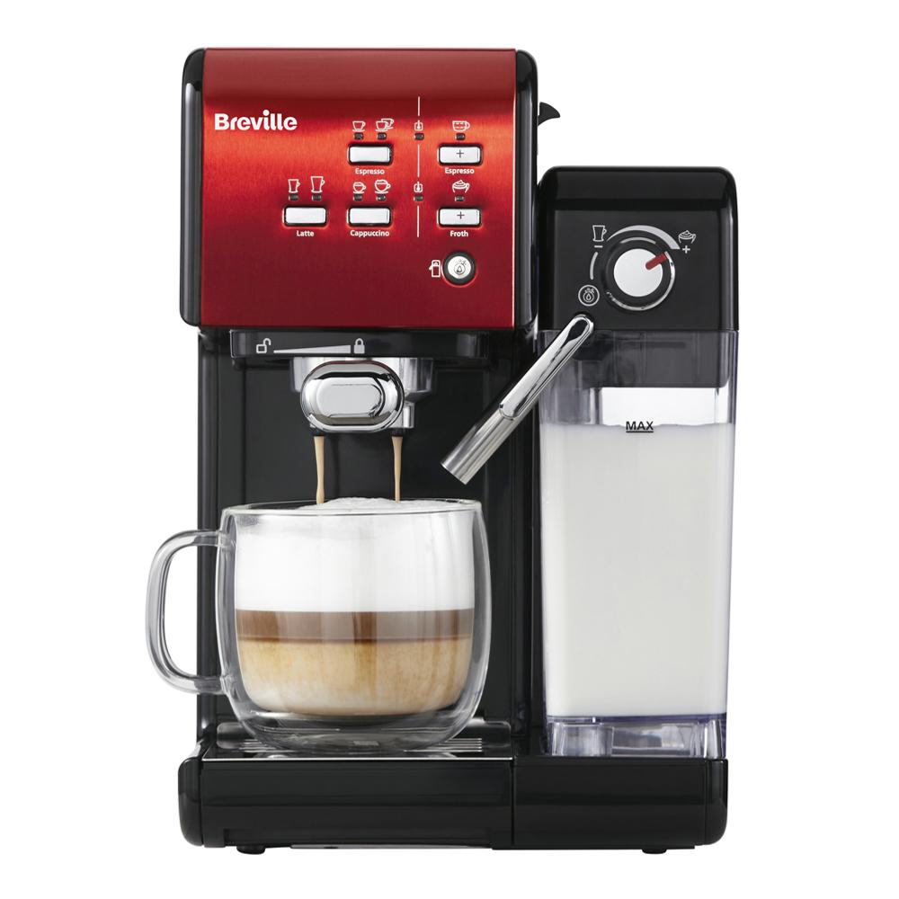Breville - Prima Latte II Kaffemaskin Röd