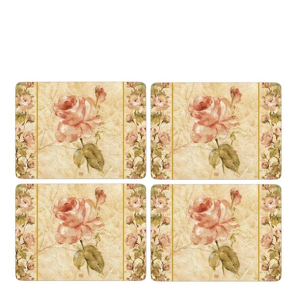 Antique Rose Linen Tablett 30x40 cm 4-pack
