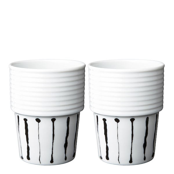Filippa K Mugg 31 cl 2-pack Ink Stripe