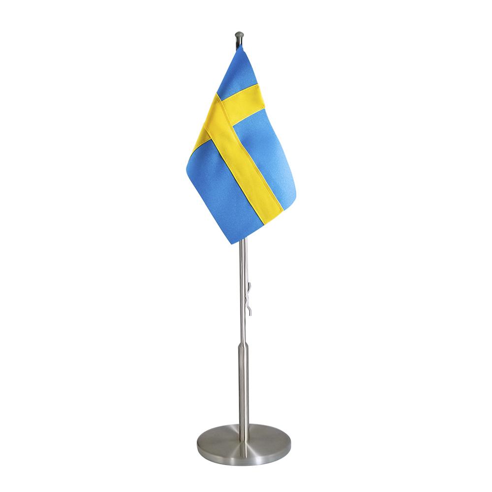 Dacapo Silver - Flaggstång med Svensk Flagga Rotsfritt Stål 40 cm