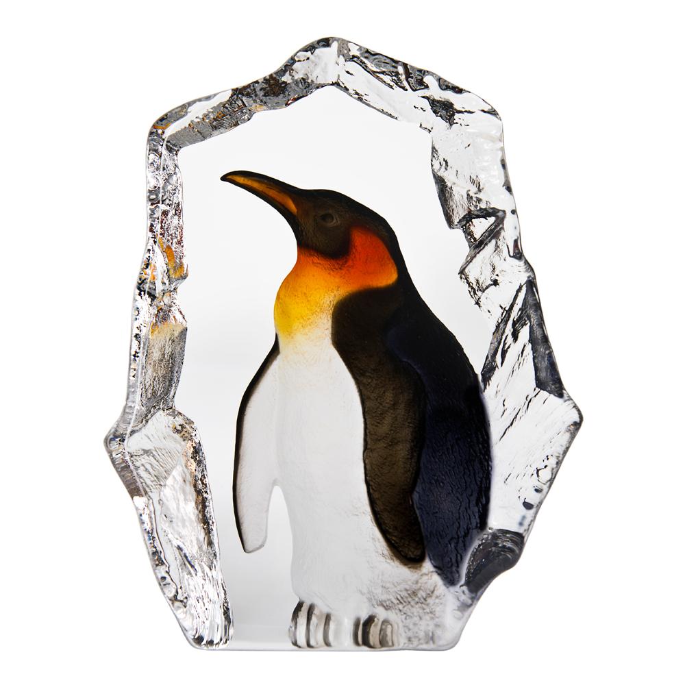 Målerås Glasbruk - Wildlife Pingvin 20,5 cm Svart