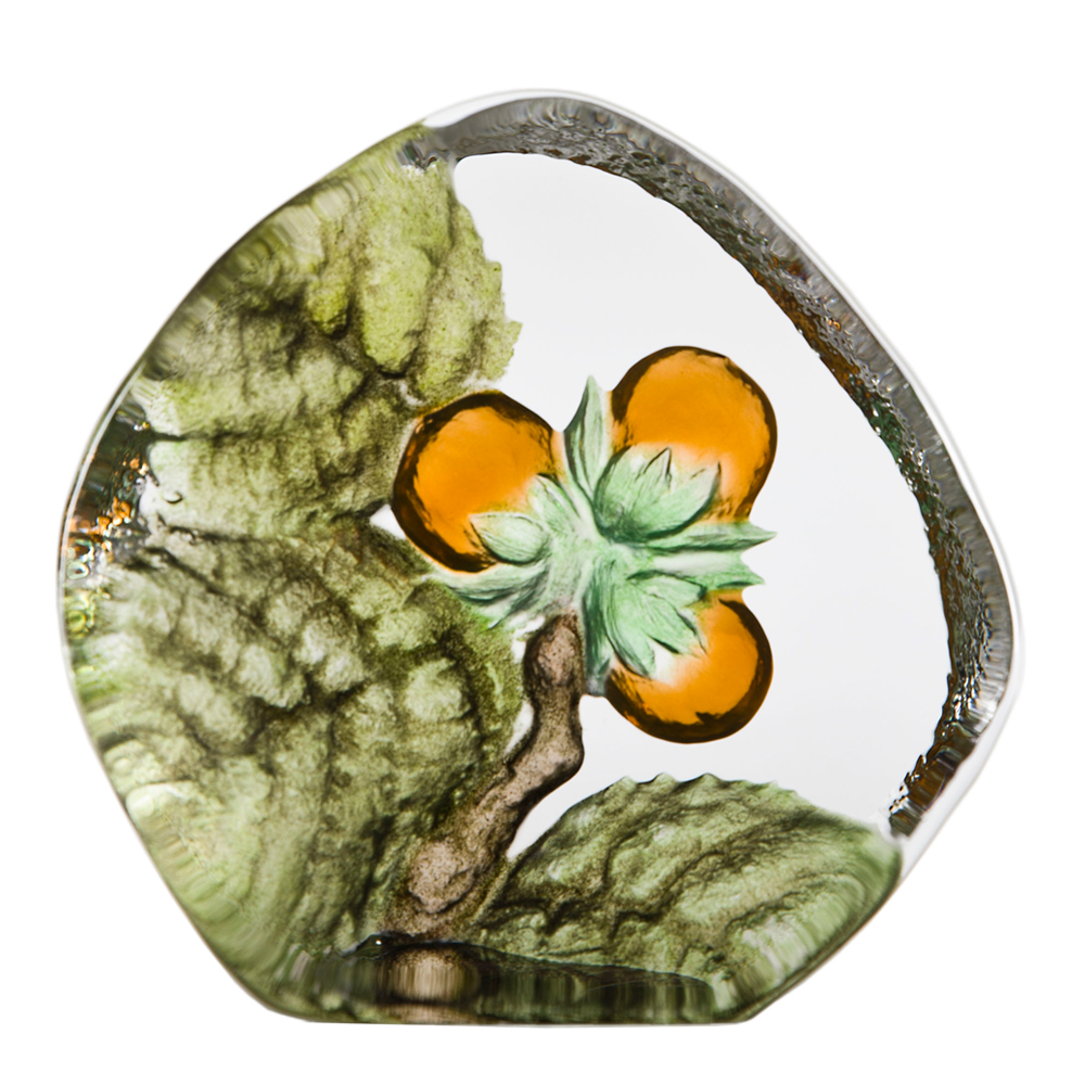 Målerås Glasbruk - Floral Fantasy Hassel 10, 5 mm Orange