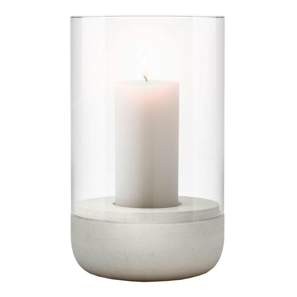 Blomus - Calma Stormlykta med ljus 20 cm Ljusgrå