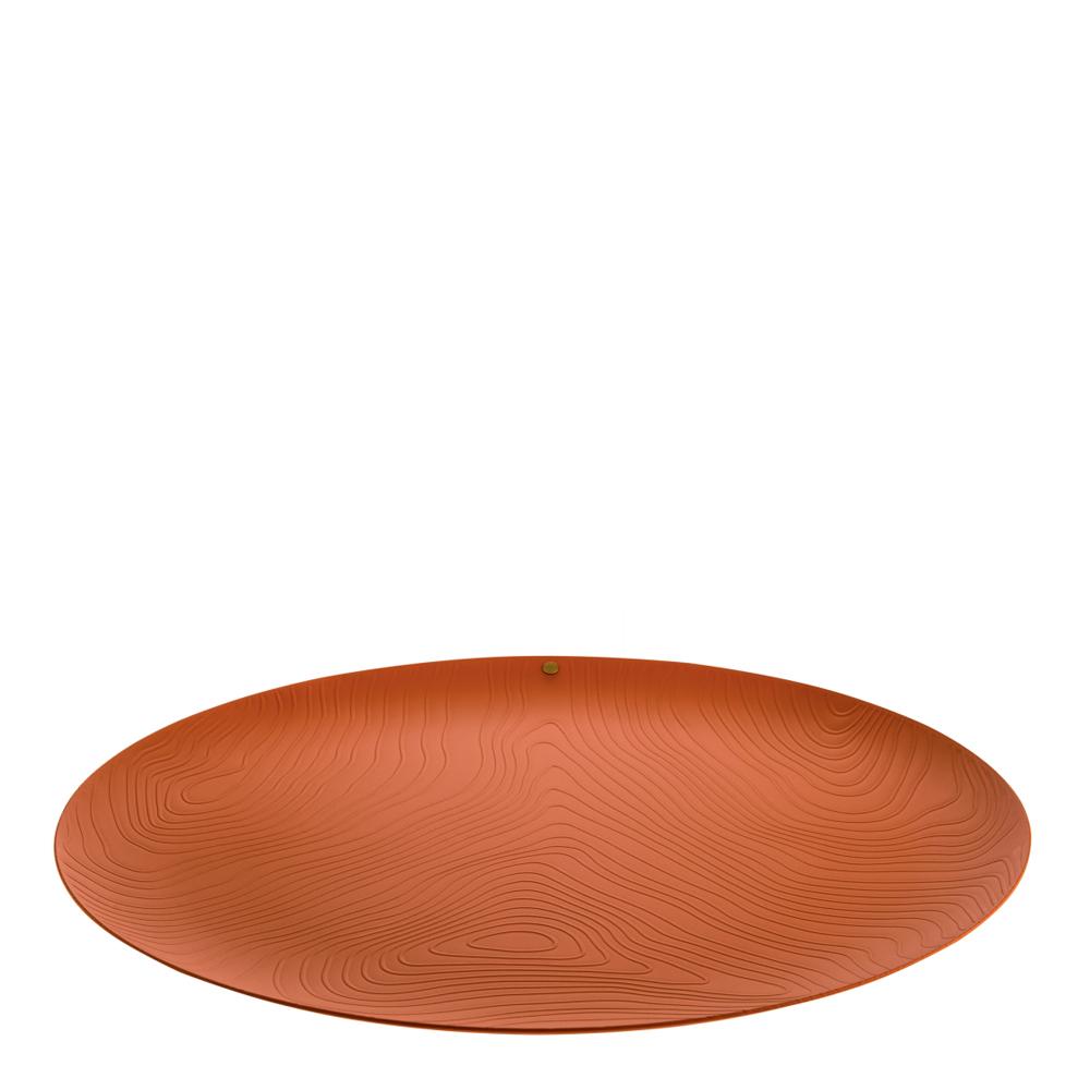Alessi - Veneer Centerpiece Fat 42 cm Röd/Brun