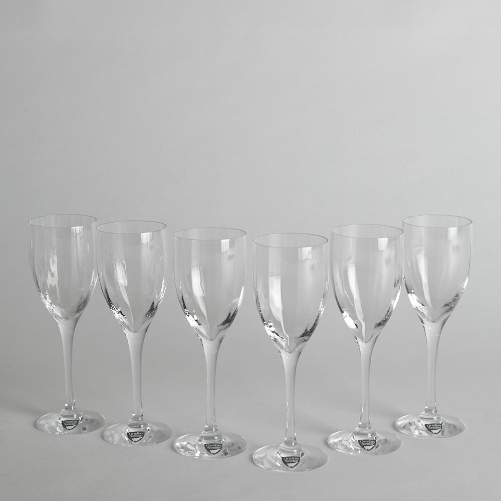 """Orrefors - SÅLD Portvinsglas """"Optica"""" 6 st"""