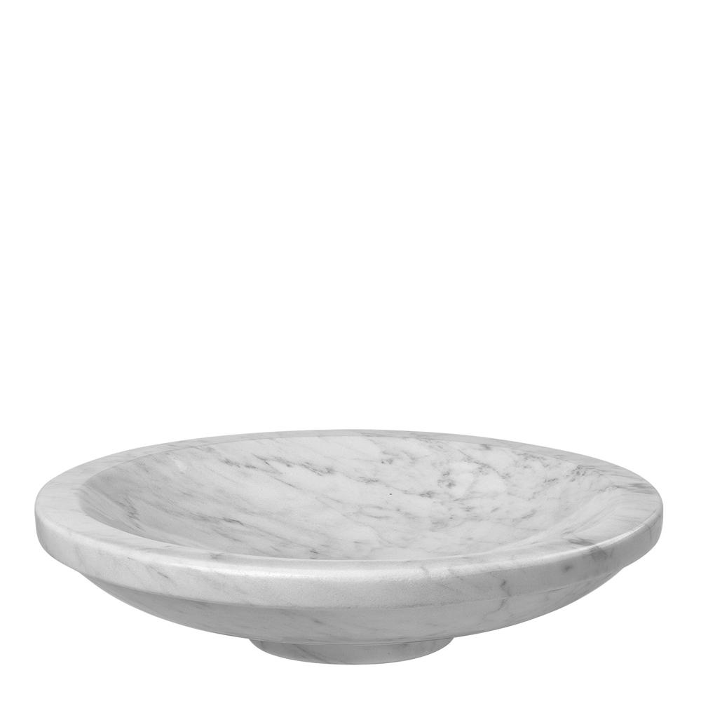 Louise Roe Copenhagen - Gallery Objects Skål Marmor 32 cm Vit