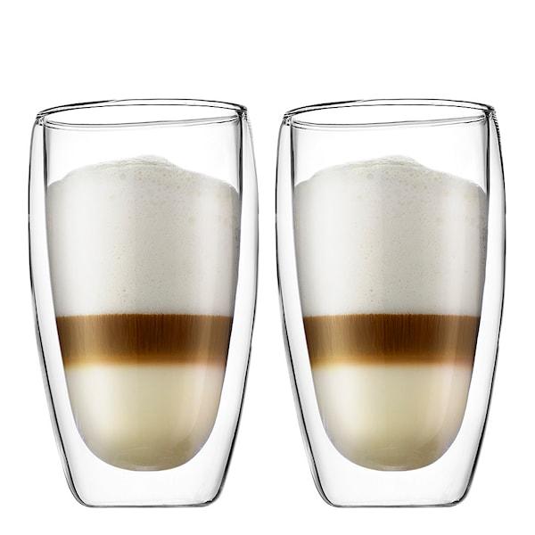 Bodum Pavina Kaffeglas dubbelväggad 45 cl 2-pack