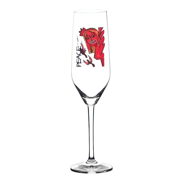 Champagneglas 30 cl Scream Peace