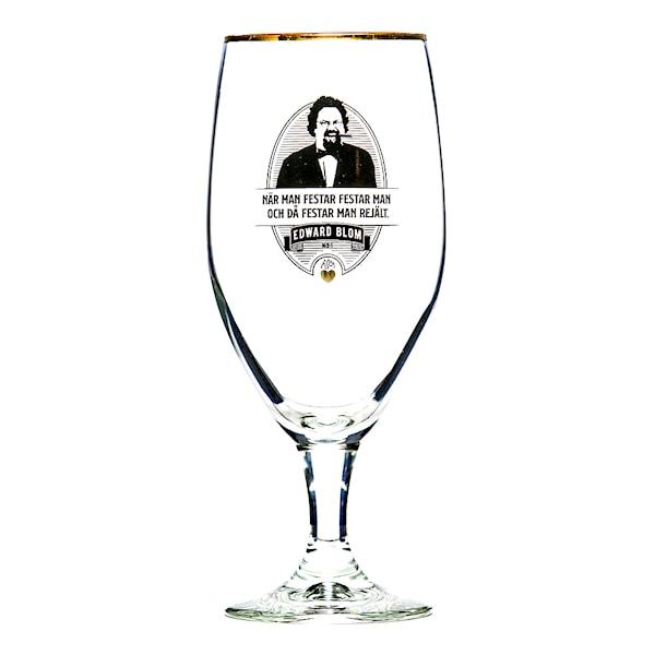 Edward Blom Collection Ölglas No: 1 När man festar