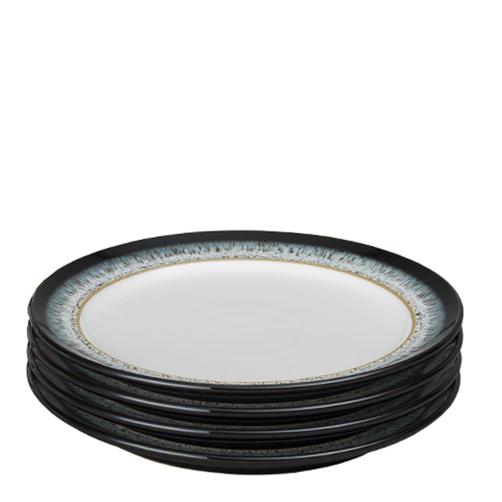 Denby - Halo Tallrik 24,4 cm 4-pack  Blå-svart