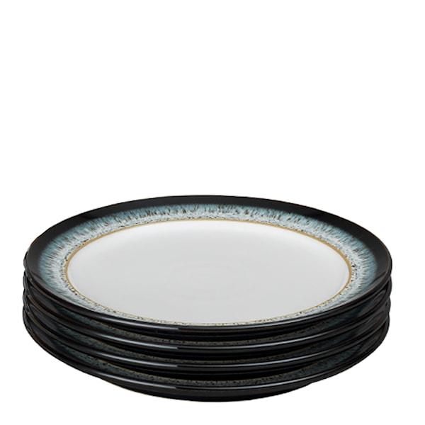 Denby Halo Tallrik 24,4 cm 4-pack  Blå-svart